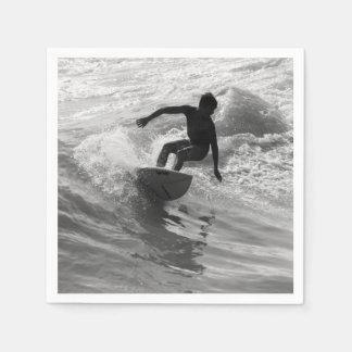 Serviette En Papier Monte de la gamme de gris de vague