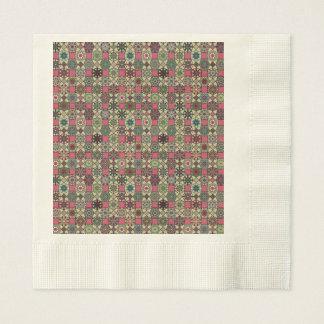Serviette En Papier Motif coloré vintage décoratif avec le patchwork