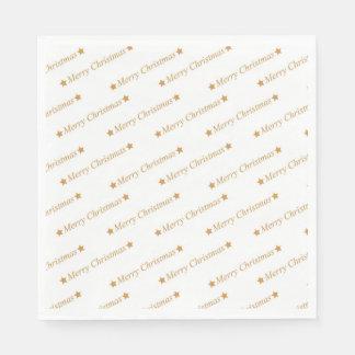 Serviette En Papier Motif de Joyeux Noël de typographie de Noël