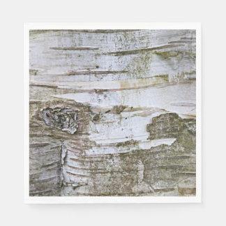 Serviette En Papier Motif de regard de texture d'écorce d'arbre de