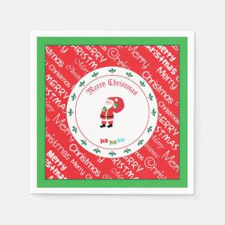 Serviette En Papier Ondulation de Père Noël de Joyeux Noël