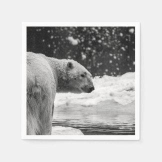 Serviette En Papier Ours blanc dans la neige