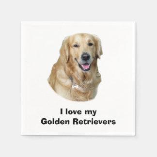 Serviette En Papier Portrait de photo de chien de golden retriever