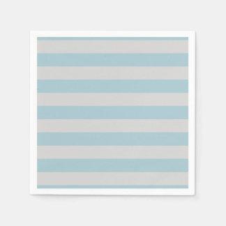 Serviette En Papier Rayures (lignes parallèles) - bleu gris