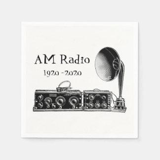 Serviette En Papier Récepteur radioélectrique du cru AM de