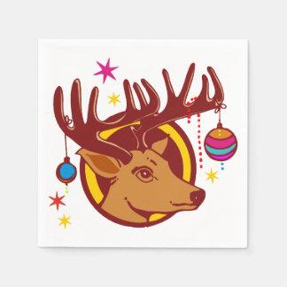 Serviette En Papier Renne/cerfs communs/Noël + votre idée