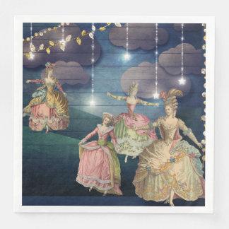 Serviette En Papier Royals français dansant sous les lumières de