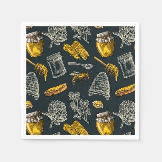 Serviette En Papier Rustique naturel vintage de miel de ruche foncée