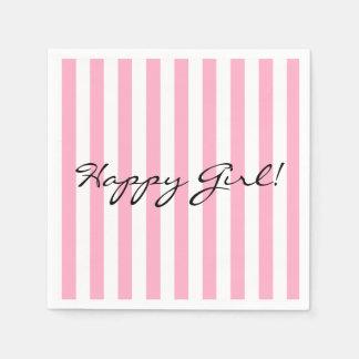 Serviette En Papier Serviette de papier de fille heureuse