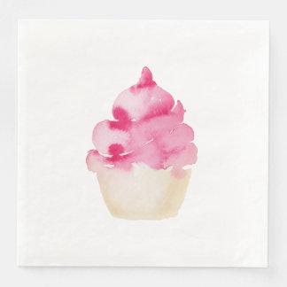 Serviette En Papier Serviette de papier de petit gâteau rose