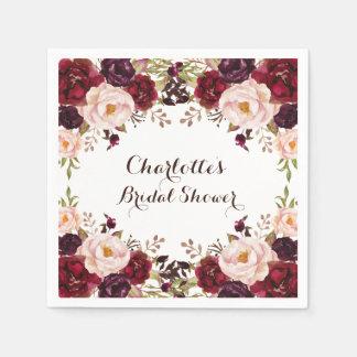 Serviette En Papier Serviette de papier de roses chics minables