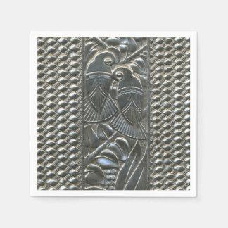Serviette En Papier Serviette de papier d'inséparables d'art déco