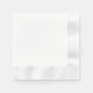 Serviette En Papier Serviette de papier faite sur commande - blanc