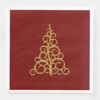 Serviette En Papier Serviette de papier rouge de Tableau de Noël