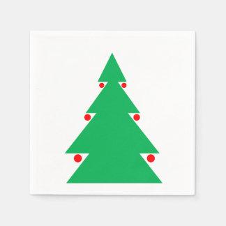 Serviette En Papier Serviettes d'arbre de Noël