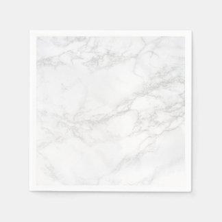 Serviette En Papier Serviettes de marbre blanches et grises d'exposé
