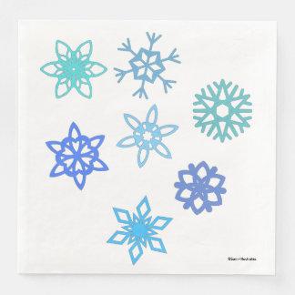 Serviette En Papier Serviettes de motif d'hiver de flocons de neige