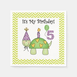 Serviette En Papier Serviettes de papier anniversaire mignon de tortue