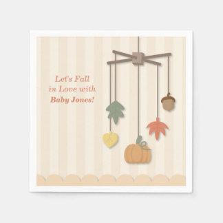 Serviette En Papier Serviettes de papier d'automne de baby shower