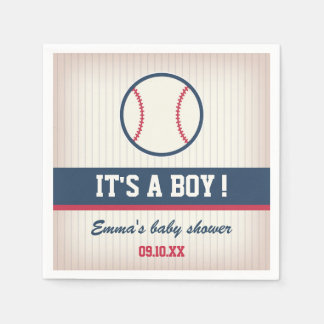 Serviette En Papier Serviettes de papier de baby shower de base-ball