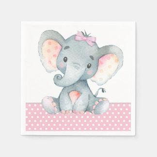 Serviette En Papier Serviettes de papier de baby shower d'éléphant de