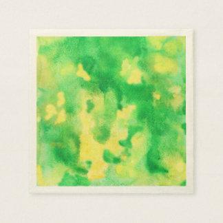 Serviette En Papier Serviettes de papier de cocktail d'aquarelle de