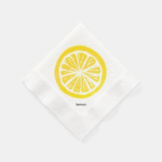 Serviette En Papier Serviettes de papier de cocktail de citron