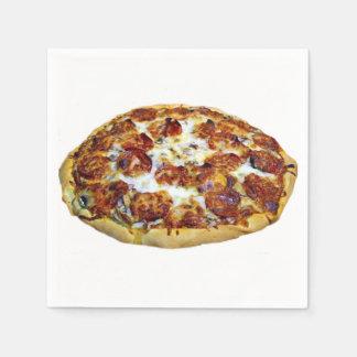 """Serviette En Papier Serviettes de papier de conception """"de pizza de"""