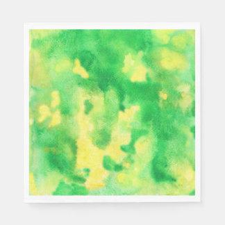 Serviette En Papier Serviettes de papier de déjeuner d'aquarelle de