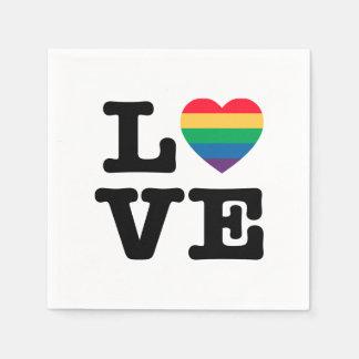 Serviette En Papier Serviettes de papier de fierté de coeur d'amour