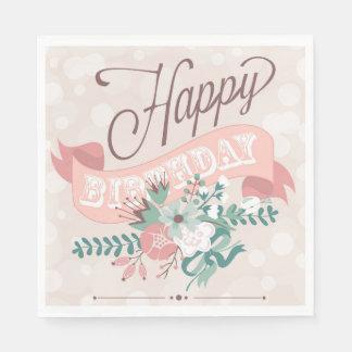 Serviette En Papier Serviettes de papier de joyeux anniversaire de