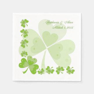 Serviette En Papier Serviettes de papier de mariage irlandais vert de