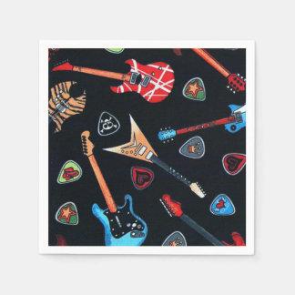 Serviette En Papier Serviettes de papier de motif de guitares de roche