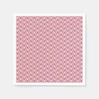 Serviette En Papier Serviettes de papier de motif géométrique rose