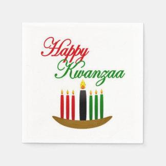 Serviette En Papier Serviettes de papier de partie heureuse de Kwanzaa