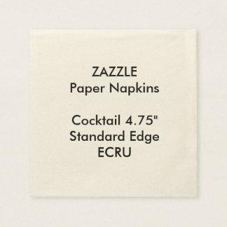 Serviette En Papier Serviettes de papier de petit ECRU cocktail fait
