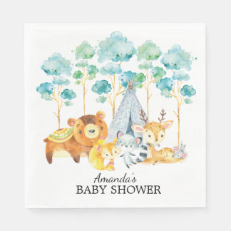 Serviette En Papier Serviettes de papier de région boisée de baby