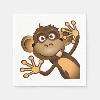 Serviette En Papier Serviettes de papier de singe drôle