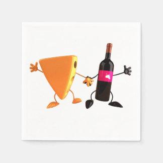 Serviette En Papier Serviettes de papier de vin et de fromage