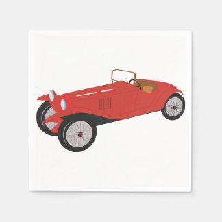 Serviette En Papier Serviettes de papier de voiture rouge classique