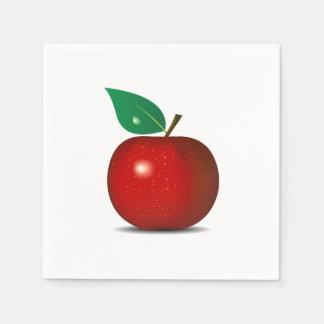 Serviette En Papier Serviettes de papier rouges croquantes d'Apple