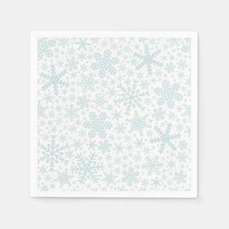Serviette En Papier Serviettes de vacances des flocons de neige |