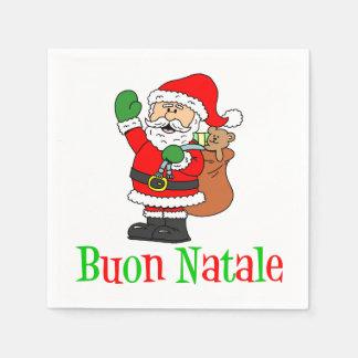 Serviette En Papier Serviettes italiennes de Père Noël de Joyeux Noël