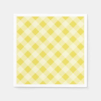 Serviette En Papier Serviettes jaunes de guingan