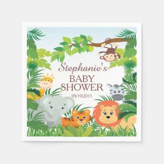 Serviette En Papier Serviettes mignonnes de baby shower d'animaux de