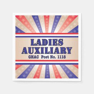 Serviette En Papier Serviettes patriotiques d'auxiliaire de dames