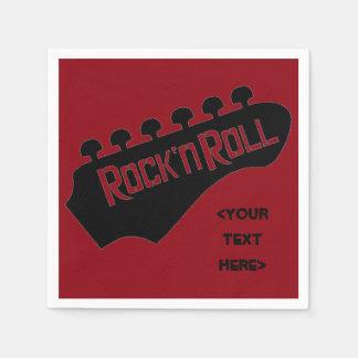 Serviette En Papier Serviettes personnalisées par guitare de rock
