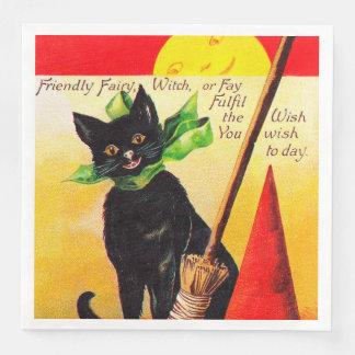 Serviette En Papier Serviettes vintages de partie de vacances de chat
