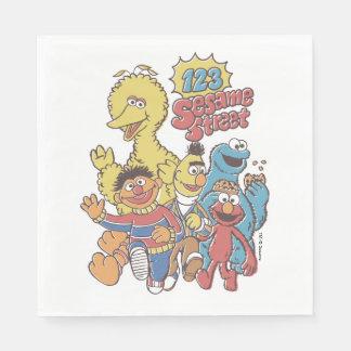 Serviette En Papier Sesame Street du cru 123