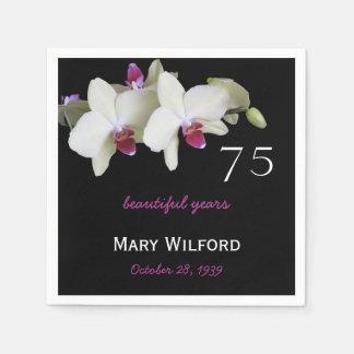 Serviette En Papier soixante-quinzième Serviettes de papier d'orchidée